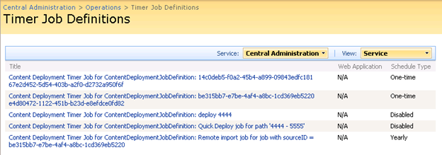 Content Deployment – The complete Guide – Part 9 – Job and Timerjob
